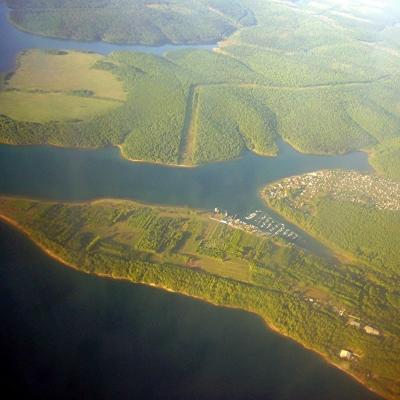 Anflug auf Irkutsk  ( Russland )