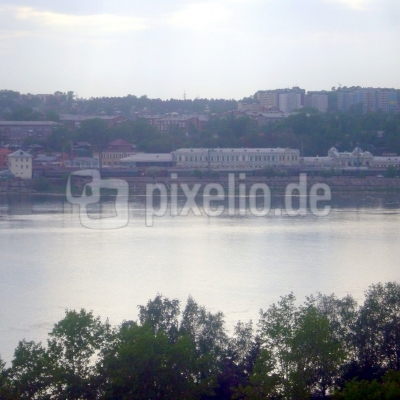 Blick aus dem Hotel Irkutsk ( in Irkutsk )  auf den Fluss Angara