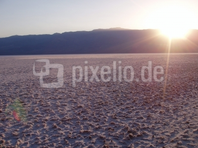 Sonnenuntergang in der Death Valley Wüste