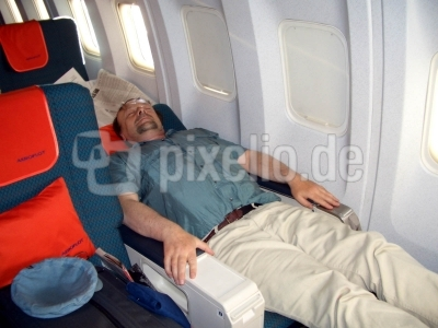 In der Business Class von Boeing 737