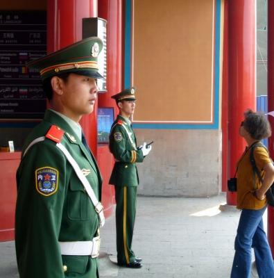 Ehrenwache vor dem Kaiserpalast in Peking