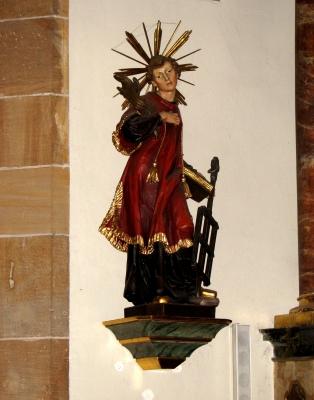 Statue des Hl. Laurentius - Pfarrkirche Herxheim