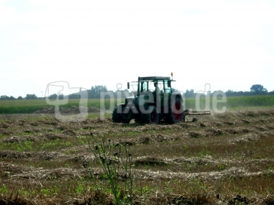 Bauer beim Stroh wenden II