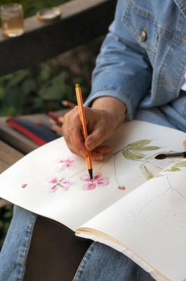 Malerin im Park