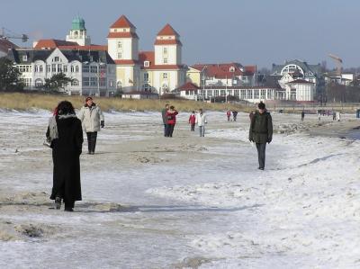 Strand in Binz im Winter