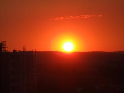 Sonnenuntergang in Böblingen