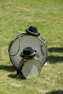 Pause an der Trommel