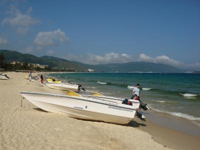 Strand in Sanya, Hainan/China