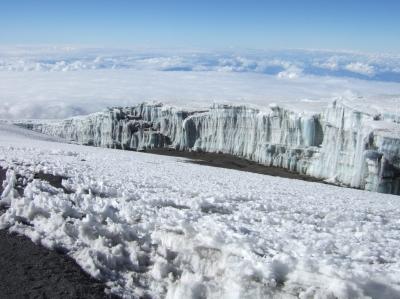 Gletscher auf dem Kilimanjaro