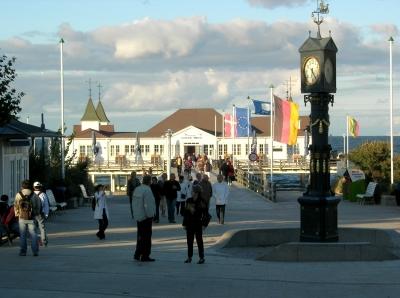 Ahlbeck/Usedom: Blick auf die historische Seebrücke