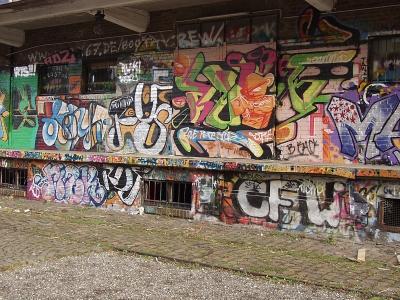 Graffiti am Depot in Tübingen
