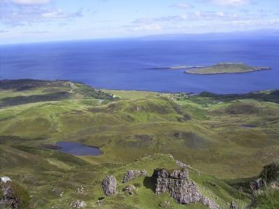 Schottland - Skye - Qiraing - Blick auf Flodigarry
