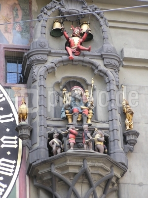 Glockenspiel am Uhrturm Bern