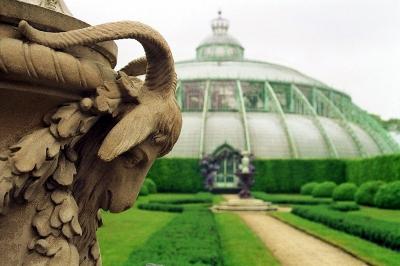 Orangerie Brüssel mit Löwen