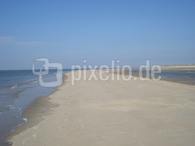 Weststrand von Langeoog - 14 km langer Sandstrand
