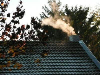 Raureif auf dem Dach
