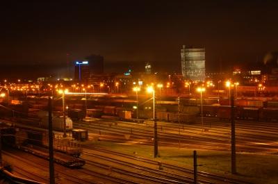 nachts am Verschiebebahnhof