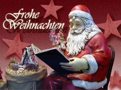 Weihnachtskarte - Frohe Festtage