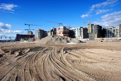 Hafencity - Sandspuren am Hübenerkai