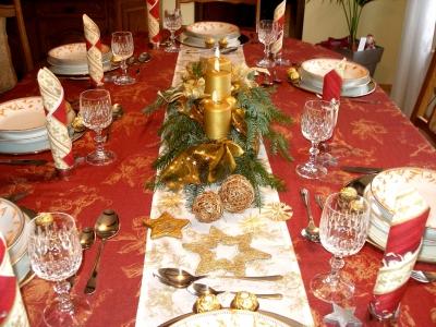 Tischdekoration an Weihnachten 4