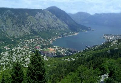 Bucht von Kotor (Cattaro) in Montenegro