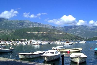 Hafen von Budva in Montenegro