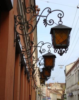 Strassenbeleuchtung in Kaunas, Litauen