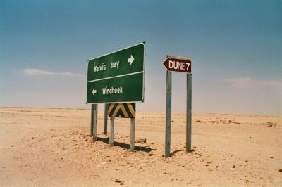 Wegweiser in der Namib!