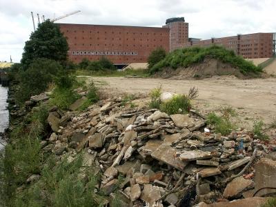 Hafencity - zerstörter Dalmannkai
