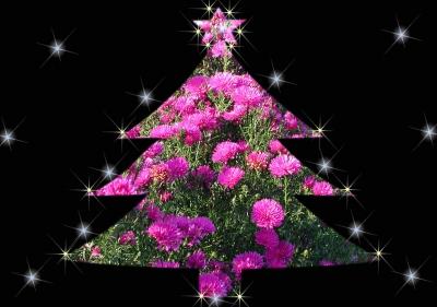 Blumenweihnachtsbaum