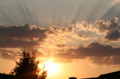 Sonnenuntergang über den Dächern