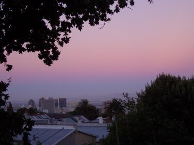 Dämmerung über Kapstadt