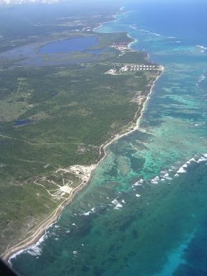 Küste Puerto Plata Luftansicht