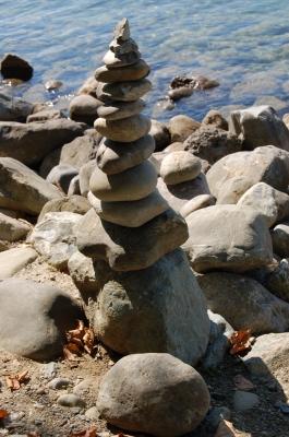 Ausbalancierte Kieselsteine