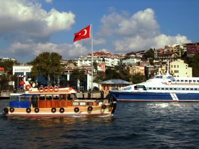 Schiffsverkehr auf dem Bosporus