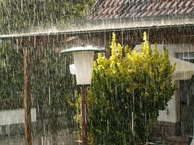 Regenschauer in Karlsruhe
