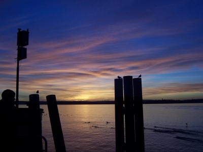 Abendstimmung Bodensee Hafen