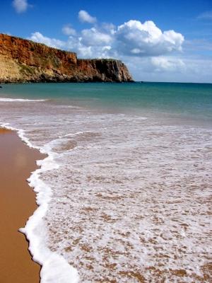 Strand mit Steilküste