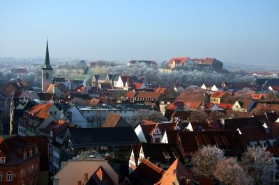 Frostiger Morgen in Erfurt