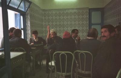 In einem Männercafe in der Altstadt von Tunis