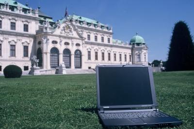 Laptop wien belvedere