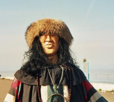 Schamanenfigur am Baikalsee