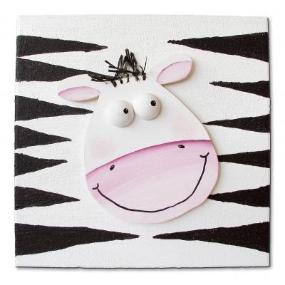 Kindgerechte Kunst: Zebra
