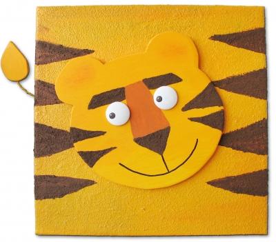 Kindgerechte Kunst: Tiger