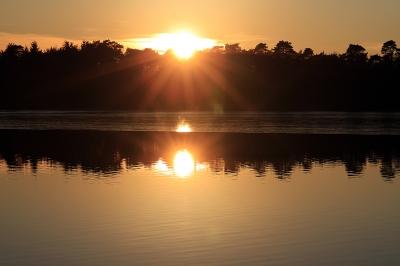 Schwanensee-Sonnenuntergang