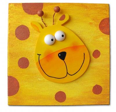 Kindgerechte Kunst: Giraffe