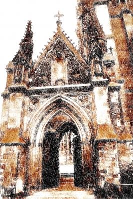 Nikolei Kirche Zeichnung
