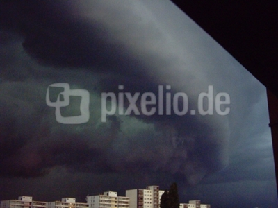 Orkansturm über Ratingen-West