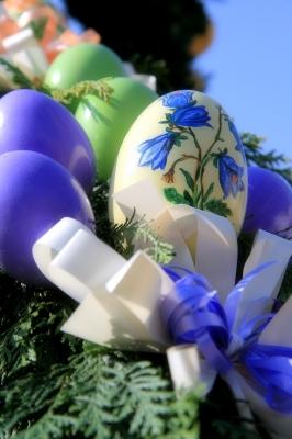 Eier in blau