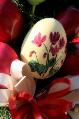 Eier in rot
